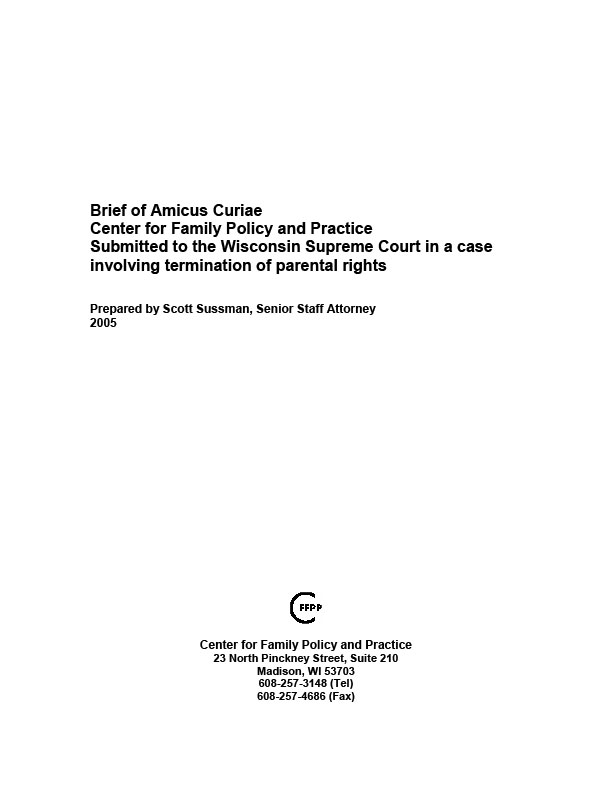 Brief of Amicus Curiae, Center for Family Policy and Practice ...